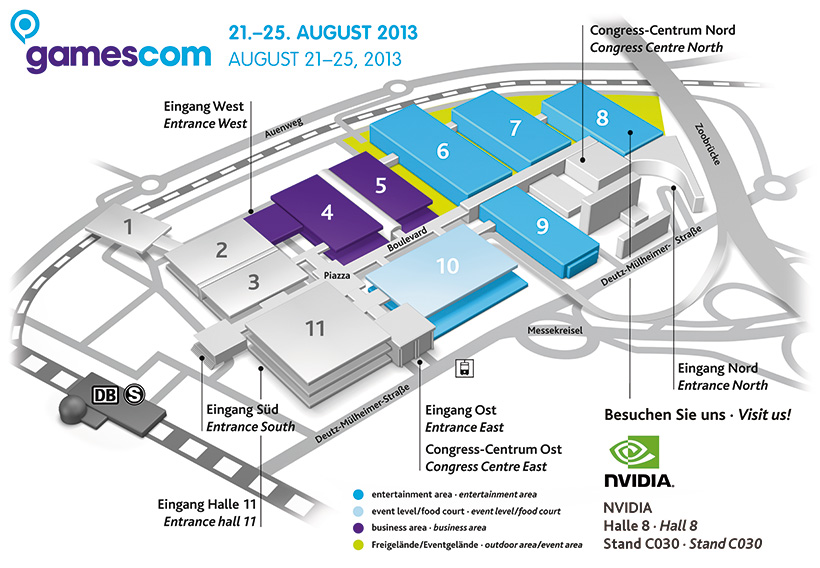 Gamescom 2013 Map